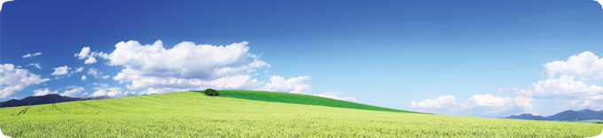 Green Hills with Blue Sky